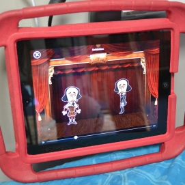 A student used the Puppet Palls app to create a video of traditional and modern day interpretations of Shakespeare plays.